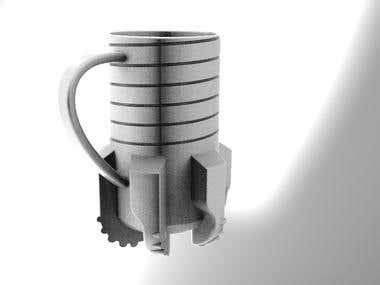 Drill bit mug