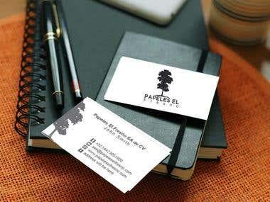 Business card mokeup
