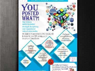 Safe Social Media Talk Poster