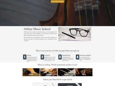 Website for learning music online