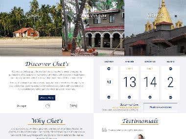 Website- Hotel room booking system