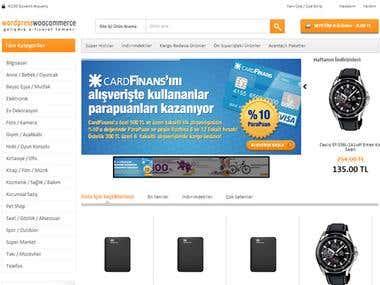 WooCommerce E-Ticaret Teması