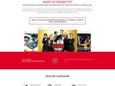 Wordpress theme design & development - Crown IP TV Ca.