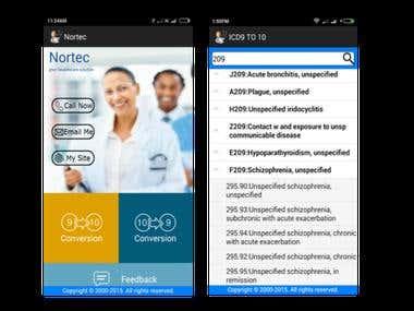 ICD Converter Hybrid mobile app