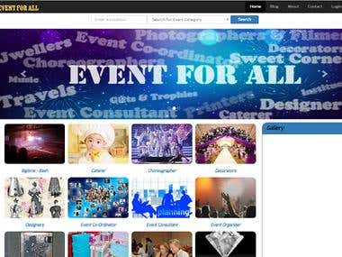 Event for all website and portal