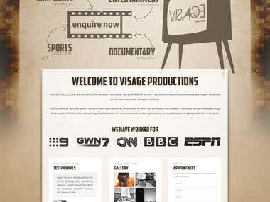 Website Design for Visage Production