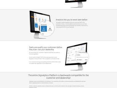 Landing Page Design for Cloud Signalitics