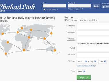 Chabad Link a Social Community Web Site