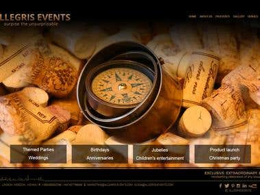 Event Management Responsive WP in English & Russian.
