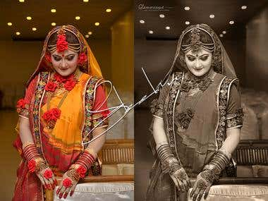 Wedding photo retouch