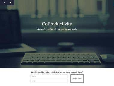 CoProductivity landing page