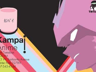Kampai!Anime Print Design