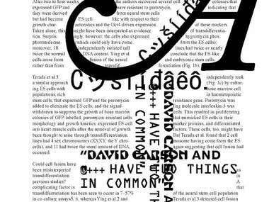 David Carson-Inspired Print Design Project