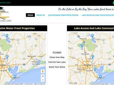 Texas Shoreline Real Estate WordPress based website