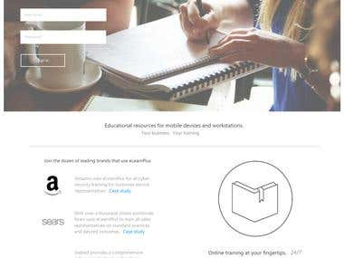 Learning Management System Home Page Sample