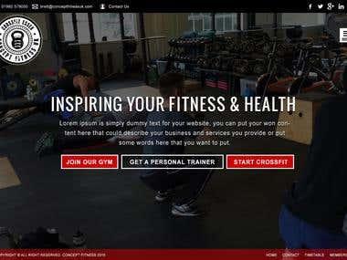 Crossfit Fitness Website design