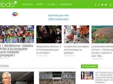 Fully responsive News Portal