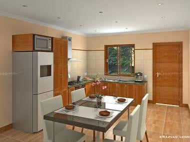 Apartment block interior design