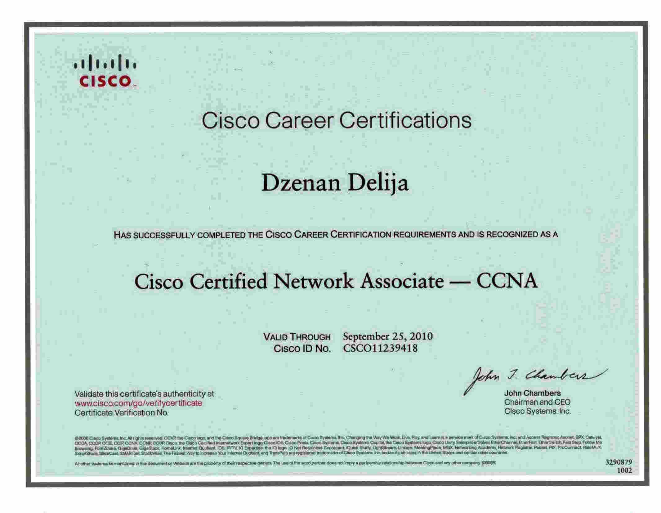 Ccna Certificate Freelancer