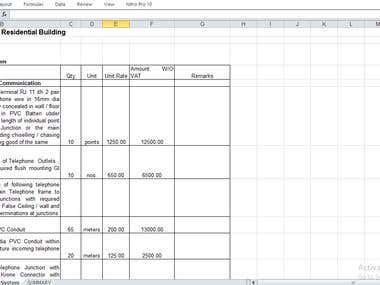 PROJECT WITH EXCEL