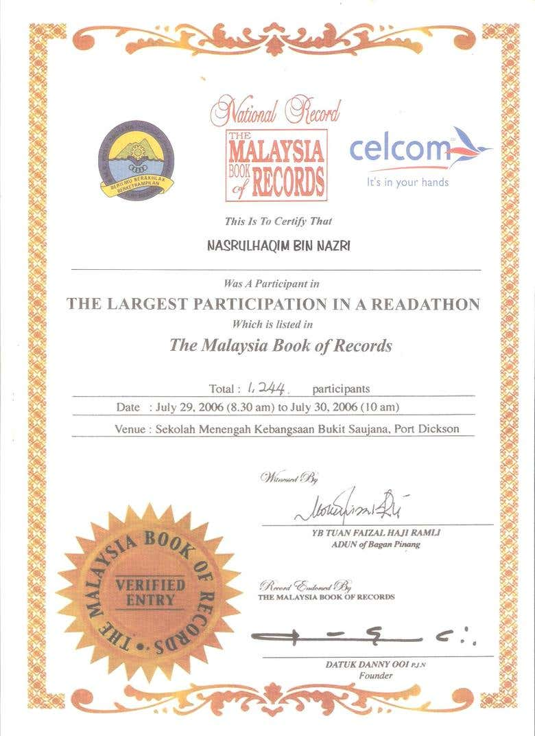 The Malaysian Book Of Records Freelancer