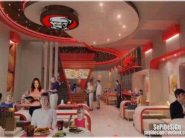 KFC branch Interior Design