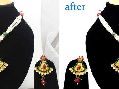 retoching and edit color jewelry