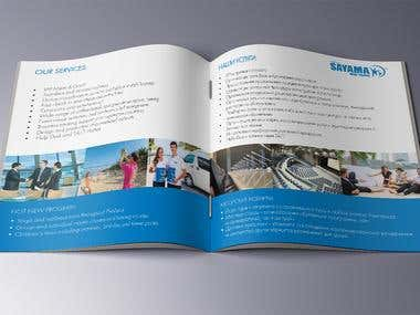 Brochure for travel agencies