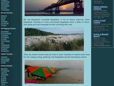 Web Design - Bangladesh travel Tour