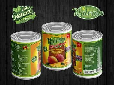 Winning Entry : Label Design + Logo D for a can mango slices