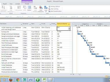 MS Project-Project Scheduling