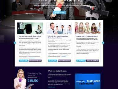 Tv training website contest wining design