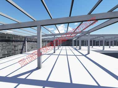 Steel construction for storage facility