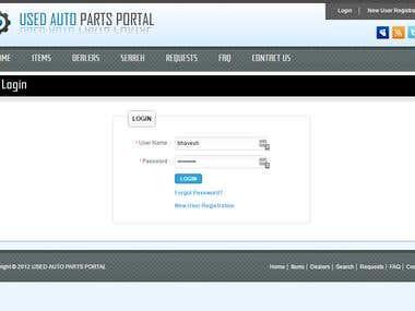 Used Auto Part Portal