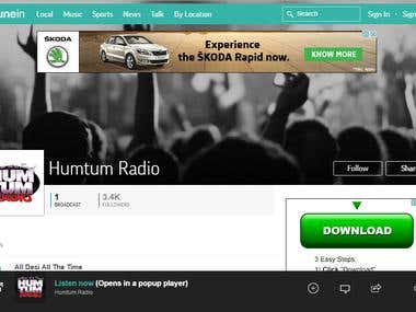FM Radio Website
