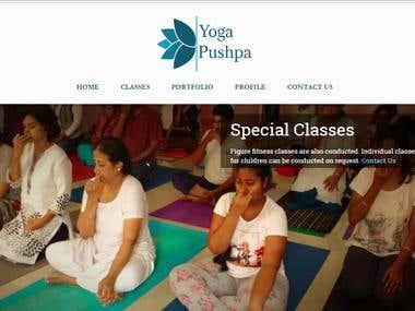 Yoga Website in WordPress