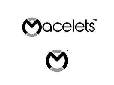 Macelets logo. Man's bracelets company.