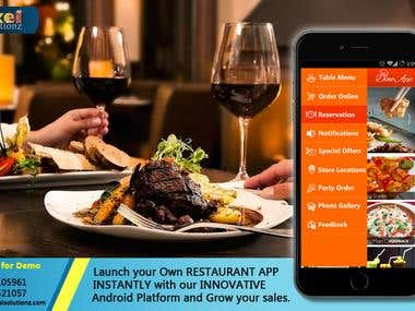 Food Ordering and Table Booking app for Restaurants