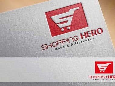 Shopping Hero Logo design