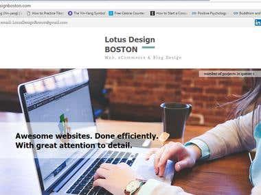 My website for web design