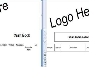 BookKeeping Software  for Cash and bank book