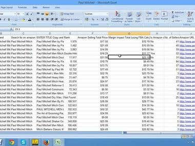 data entry on spread sheet