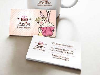 Zefir Bakery Print Design