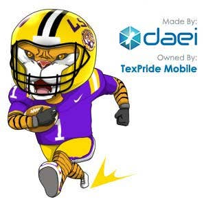 LSU Stickers for TextPride Mobile