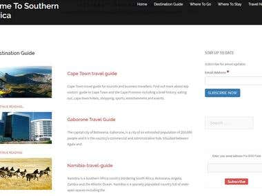 Cometosouthernafrica.com in wordpress