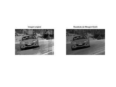 Image processing - notch filter for periodic noise removal