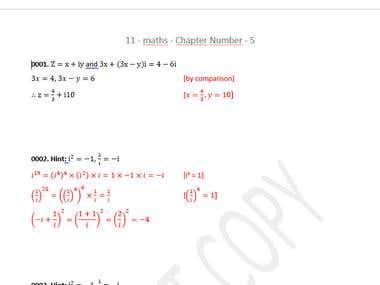 Edit Maths Solutions