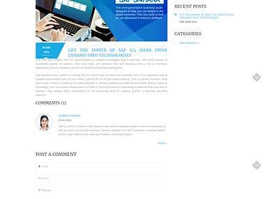 Website Design and Development for IT Company