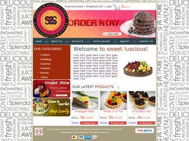 Ecommerce Bakery Website(http://sweetluscious.com/)