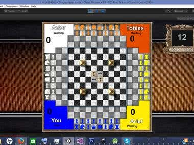4 Player multiplayer chess game